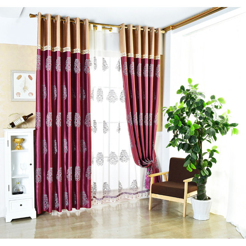 Curtain Blackout Embroidered Height280cm Curtains For Living Room Bedroom Rideaux Pour Salon Cortinas Para