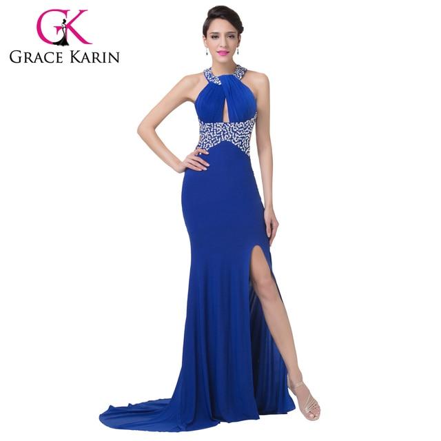 Vestidos de noche largos en azul rey