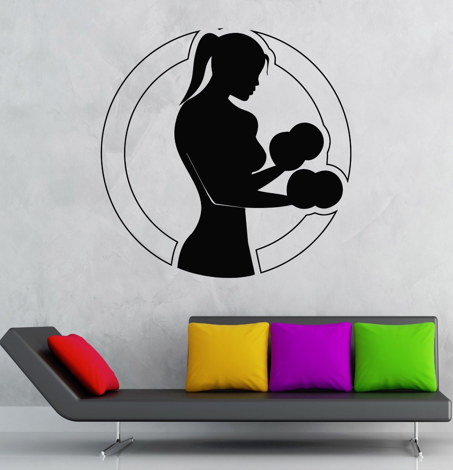 New Sports Wall Decal Girl Boxing Sports Gym Martial Arts Vinyl