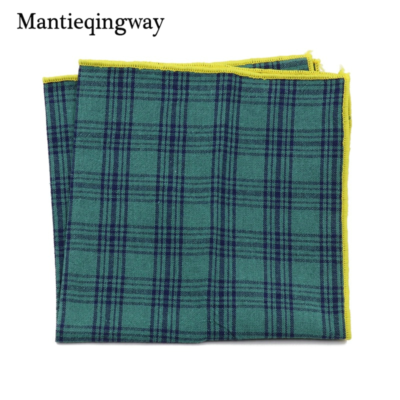 Mantieqingway Suits Cotton Flower Handkerchiefs For Mens Fish Pocket Square Striped Hankies Floral Business Pocket Towel Hanky