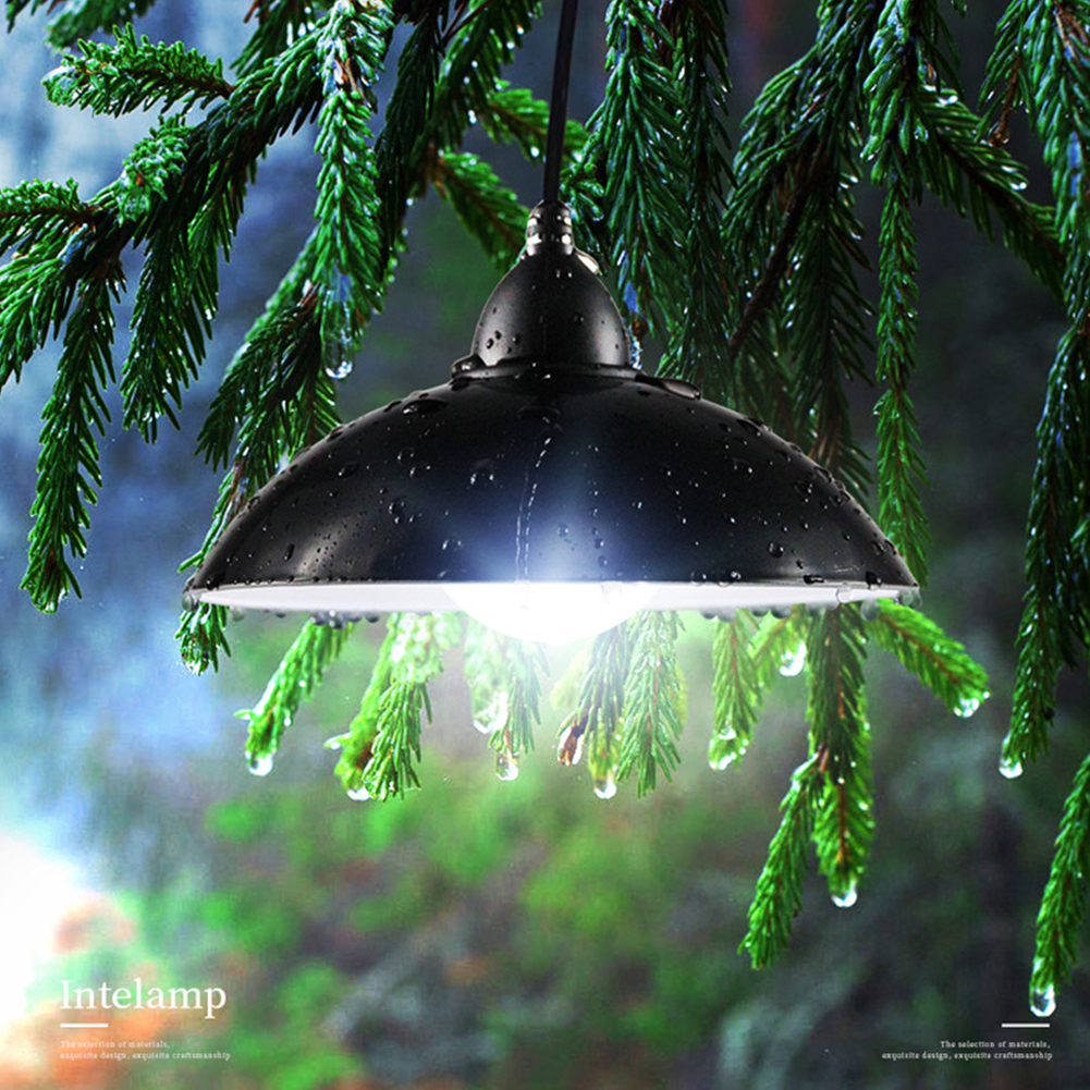 Waterproof Outdoor Retro Remote Control Solar Light 12LED Bulb Chandelier Lampshade Super Bright Panel Garden Lamp Easy Install