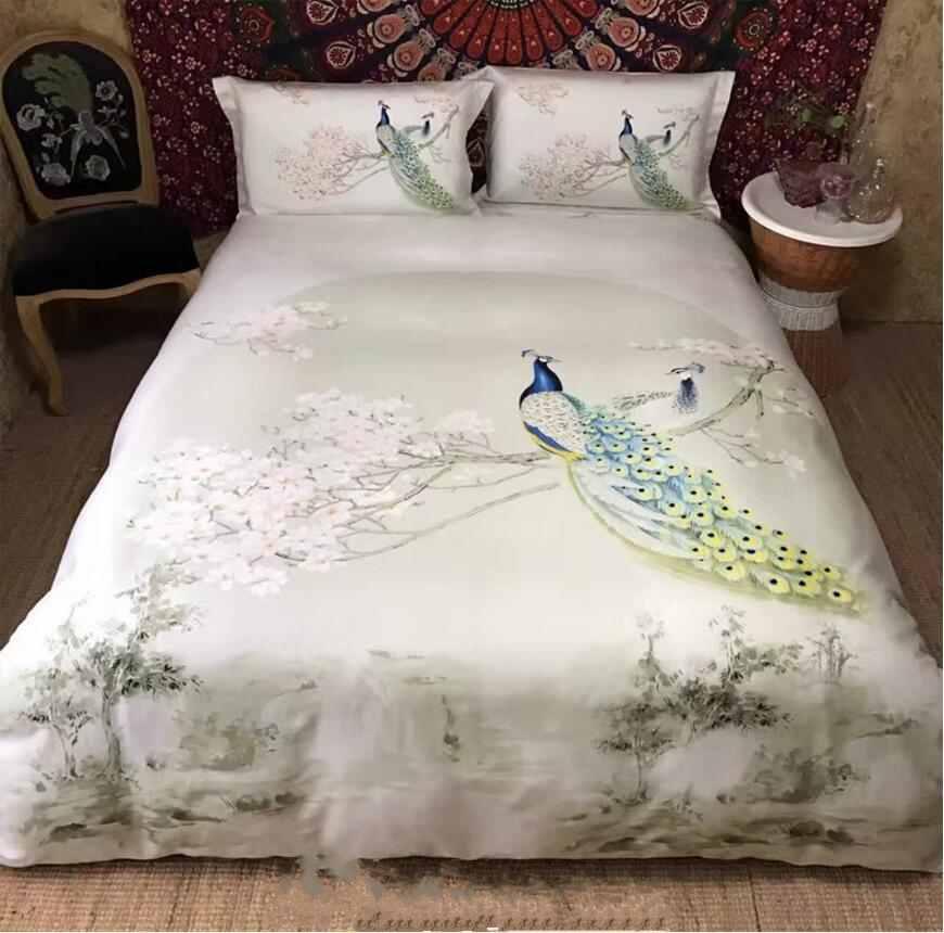 flower collections cartoon item linen bird modern sheet bed duvet set full grid girls twin cover bedding