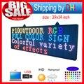 """Fechar abrir LED SINAL 39 """"X 14"""" Placa da Mensagem de Rolagem Programável Full Color"""