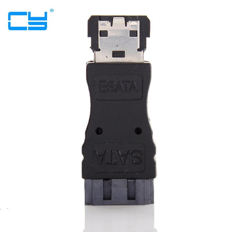 2PCS SATA 7P Male - ESATA Female Extension Adapter Convertor Connector Adaptor