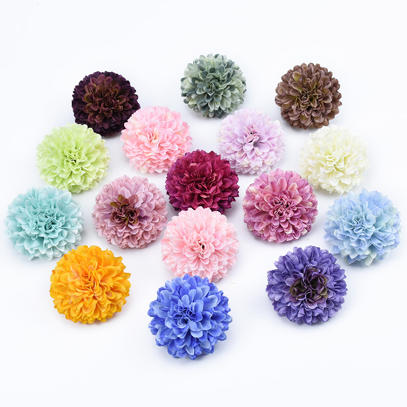 6pcs Multi-layer silk Carnation home decoration accessories wedding bridal diy gifts box scrapbooking artificial flowers wall