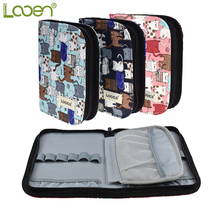 Newest Crochet Hook Pouch Cute Cats Style Storage Bag Empty Box Knitting Kit Case Organizer For Sewing Needles Tool