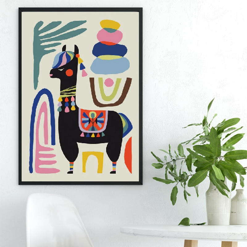 HTB1Z146a0zvK1RkSnfoq6zMwVXah Llama Poster Print Alpaca Sheep Home Inspirational Wall Art Canvas Painting Mid Century Wall Art Nursery Prints Modern Decor