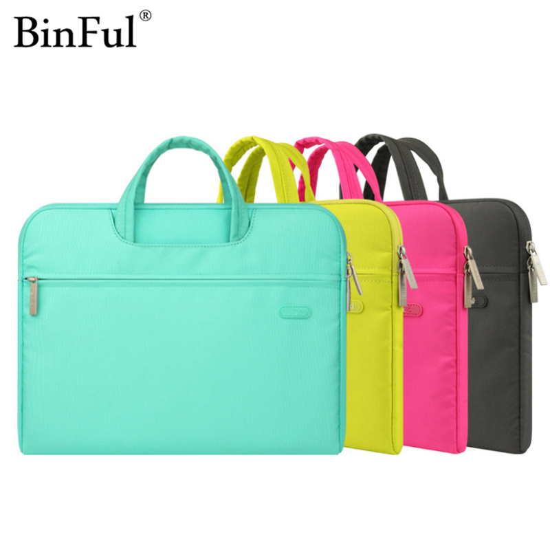BinFul Laptop Shoulder Bag 11 12 13.3 14.1 15 15.6 Waterproof Nylon Notebook Bag for Dell 14 Laptop Bag for Macbook Pro 13 Case