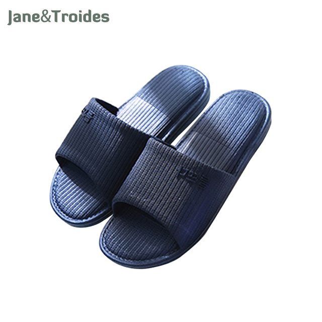 Summer Men S Slippers Home Bedroom Bathroom Shower Flip Flops Antislip Indoor Outdoor Sandals Fashion Man Brand