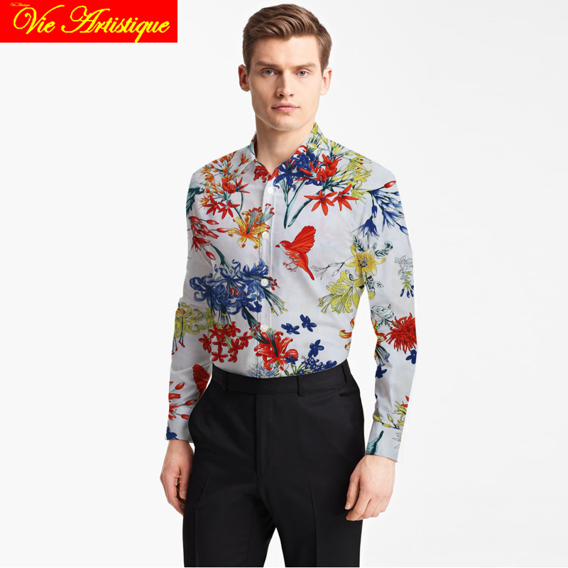 men's shirts dress shirt men shirts casual slim fit long sleeve big size white blue pink black floral paisley shirt tailored