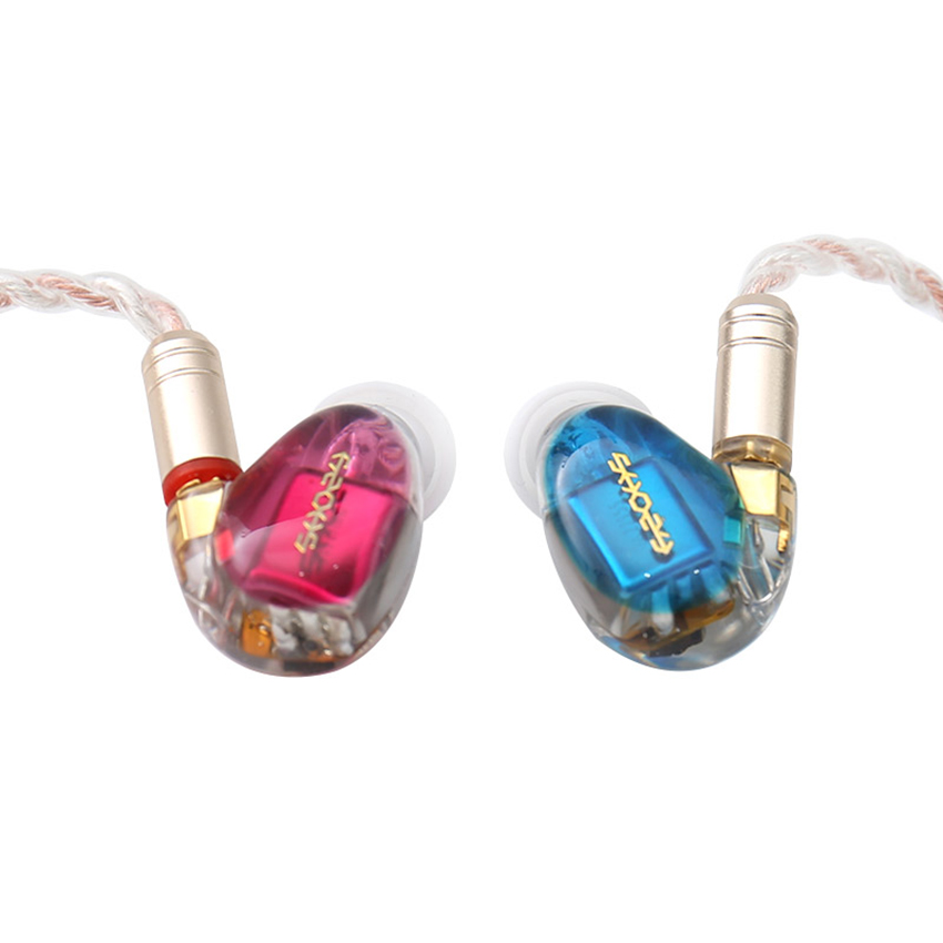 SHOZY NEO CP Red-Blue 3BA Driver In-Ear Earphones HiFi Premium Customized Monitor IEMs Music DJ Studio W/ Detachable MMCX Cable tfz hifi monitor exclusive king experience version hifi in ear earphones iems detachable cable