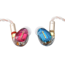 SHOZY NEO CP Red-Blue 3BA Driver In-Ear Earphones HiFi Premium Customized Monitor IEMs Music DJ Studio W/ Detachable MMCX Cable