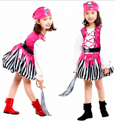 100% Quality Lovely Cosplay Costume With Pirate Design For Kids Clothes For Fashion Show Performance A Complete Range Of Specifications