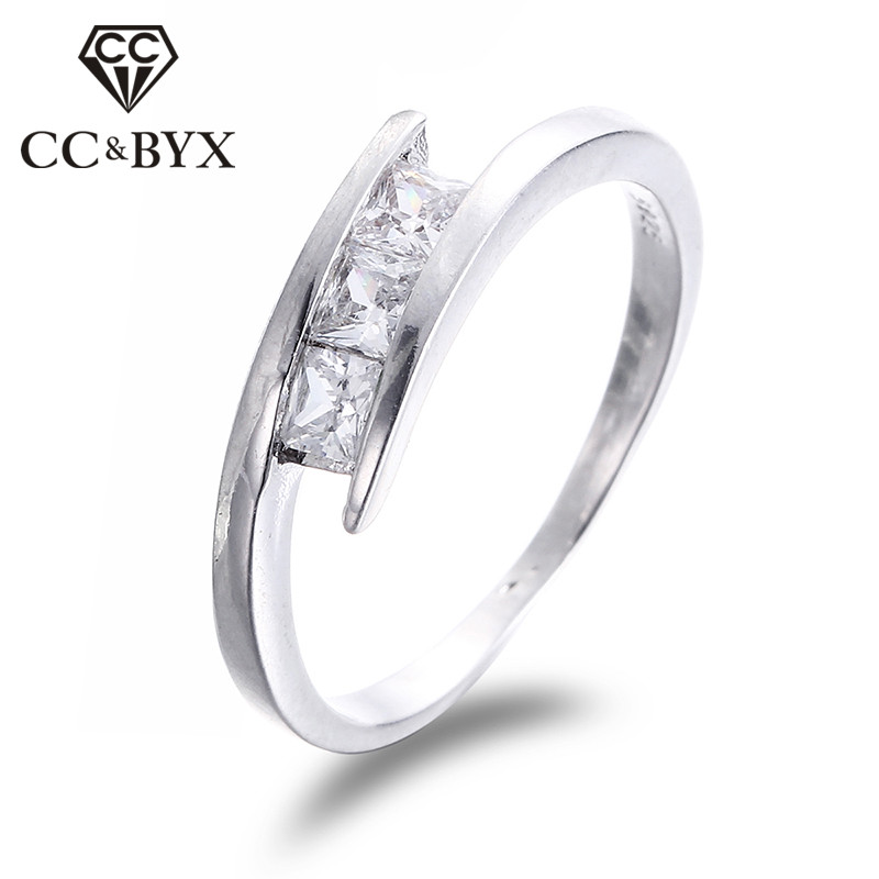 Simple Design Cubic Zirconia Engagement Rings For Women White Gold Color Small Stone Wedding Bague Jewelry Wholesale Cc215 Engagement Rings For Women Engagement Ringrings For Women Aliexpress