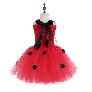 Image 3 - หญิง Ladybug เครื่องแต่งกายเด็กสาววันเกิดพรรค Tutu ชุดเด็กฮาโลวีน Lady bug เครื่องแต่งกาย Ladybird ชุดแฟนซีชุด
