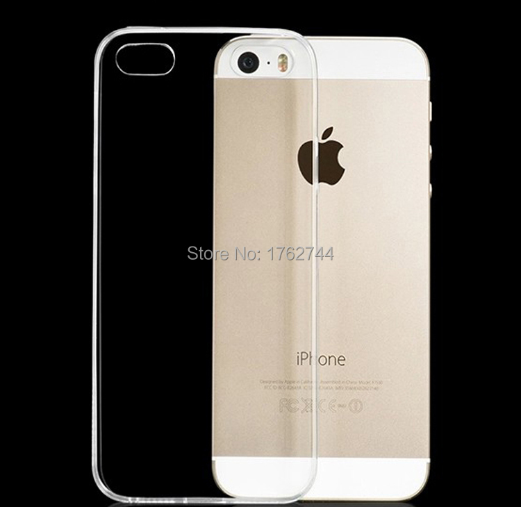 Ascromy ultra thin clear tpu soft casos de silicona para apple iphone 5 s 5s 5g