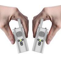 2 pcs mini walkie talkie xiao mi uhf micro walkie talkie gift portable gift toys boys children usb accumulator battery radio