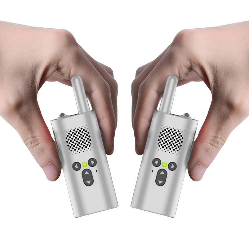 2 pcs mini talkie walkie xiao mi uhf micro talkie-walkie cadeau portable cadeau jouets garçons enfants usb accumulateur batterie radio