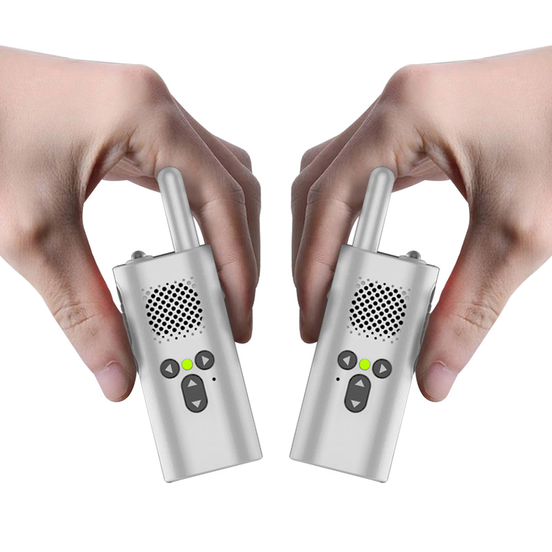 2 Pcs Mini Walkie Talkie Xiao Mi Uhf Micro Walkie-talkie Gift Portable Gift Toys Boys Children Usb Accumulator Battery Radio