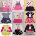 2-6 Возрастов Детей Baby Дети Гирс Одеваться летом весна Ребенок Ребенок Партия Принцессы Dresss Для Хлопка Meninas Девушки Vestido