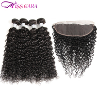 Peruvian Water Wave Bundles With Frontal Closure 100 Human Hair Bundles With Closure Miss Cara Remy