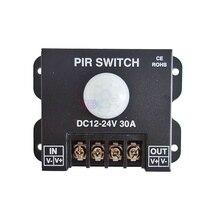 DC 12V 24V 30A PIR Sensor Switch Human body Infrared Motion Sensor LED Strip Dimmer Switch panel light Controller Switch стоимость