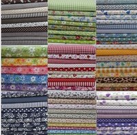 YY DIY 92pcs Different Patterns 10 Patchwork Group Cotton Fabric Flower DIY Material Quilt Quilting Kids