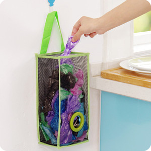 Image 5 - שימושי אופנה תליית לנשימה פלסטיק רשת אשפה תיק גרבי ושונות אחסון מארגני מטבח אחסון חדר אמבטיה.