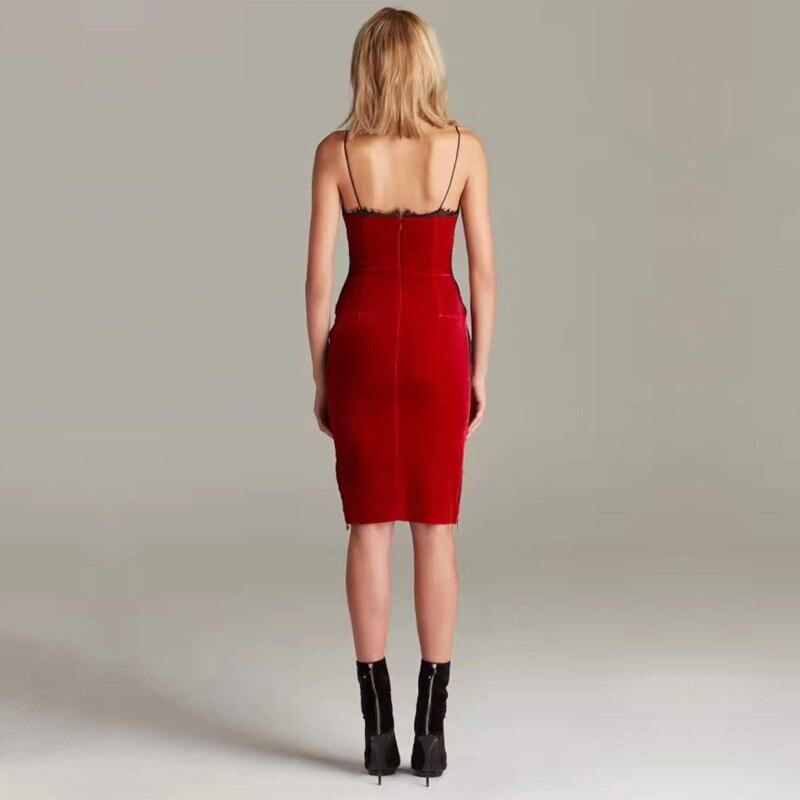 D'été Sexy Robes Nouvelle Femmes Robe En Parti Élégant Spaghetti Rouge Moulante 2018 Gros Mode Backless Strap Bandage AYSw0S4q