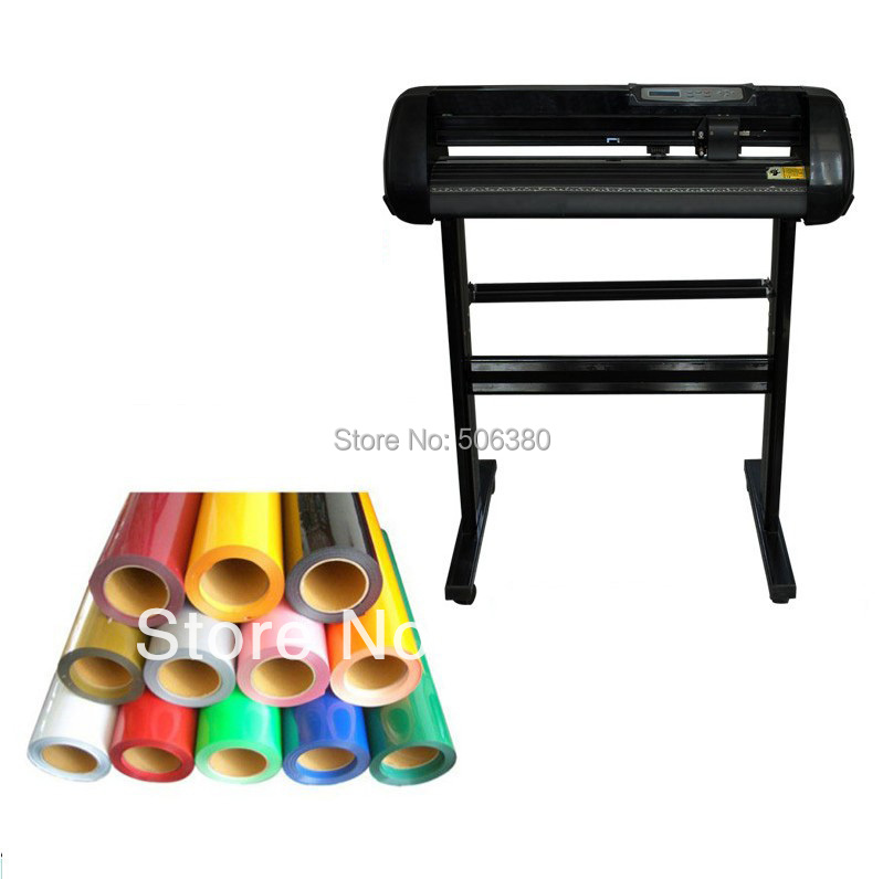24 Cutter Plotter + 10ft Heat Transfer Vinyl From 33 Colors 1x cb09 graphtec blade holder 1x60 degree 2x45 degree 2x30 blades for vinyl plotter cutter 19mm