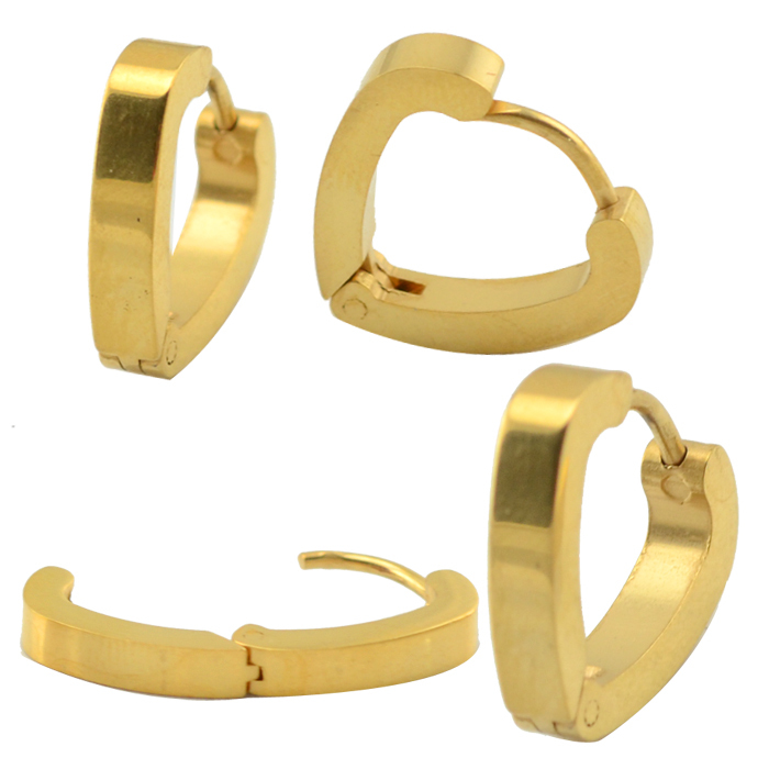 6 pairs lot 316l surgical stainless steel gold earring hoop fashion earring huggie earrings unisex