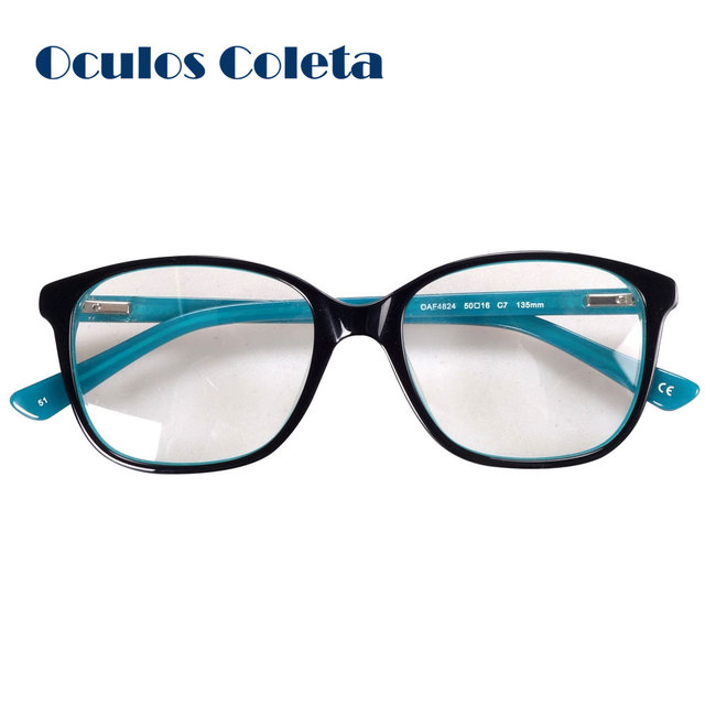 Acetate glasses frames eyeglass glass optical spectacle green red ...