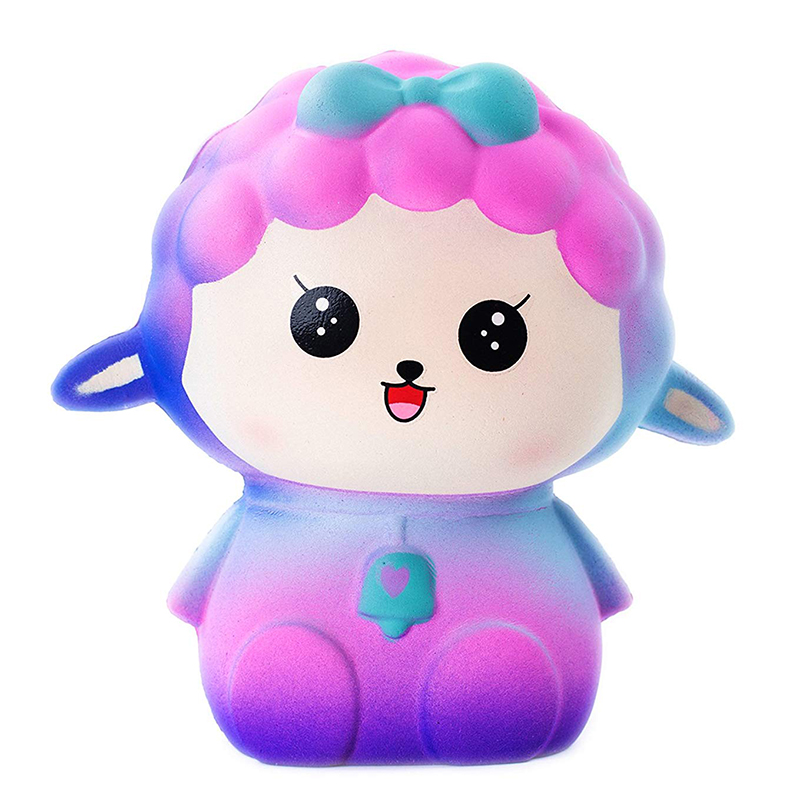 Jumbo Galaxy Sheep Squishy Cartoon Doll Slow Rising Soft Squeeze Toy Simulation Bread Scent Stress Relief Fun For Kid Girl Gift