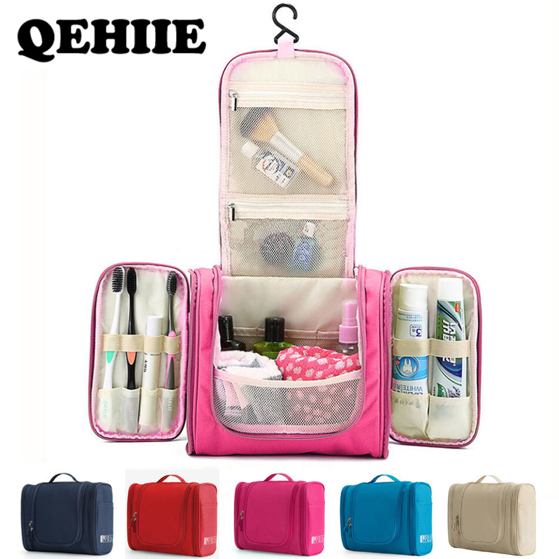 Waterproof Travel Organizer Bag Unisex Women Cosmetic Bag Hanging Travel Makeup Bags Washing Toiletry Kits Storage Bags