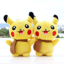 1pc Plush Lovely POKEMON GO Keychain Pendant cellphone strap Puppets Figures CA Decoration Supplies