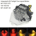 For YAMAHA MT-07 FZ-07 MT-25 MT-03 YZF R25 R3 Integrated LED Tail Light Turn signal Blinker MT07 FZ07 2014 2015 2016