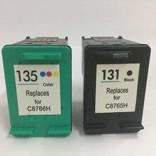 For HP 131 135 Ink Cartridges for Deskjet 460 5743 5940 5943 6843 6940 PSC 1600 1613 2350 2353 2355 Photosmart 2573 2613 8753