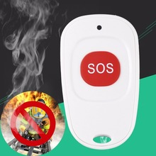 Portable Compact Mini Wireless Smoke & Fire Detector Alarm SOS Sensor for Home Security Emergency Help