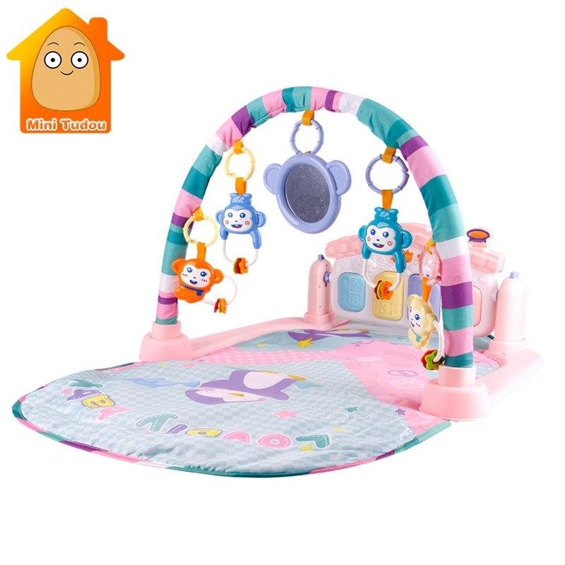 3 en 1 jouets éducatifs bébé jouer tapis enfants tapis éducatif Puzzle tapis avec clavier de Piano et tapis de jeu Animal mignon bébé Gym