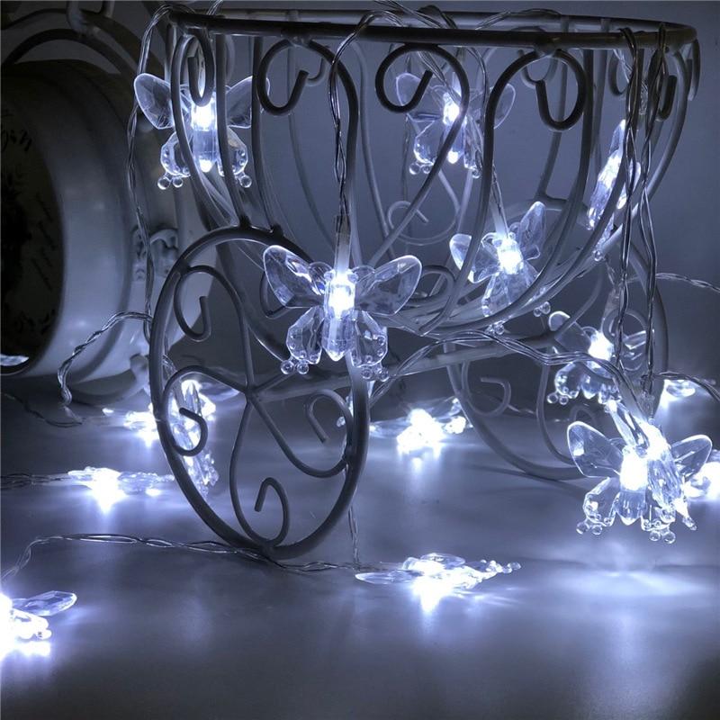 20 Led Schmetterling Led String Wasserdichte Batterie Powered Geburtstag Party Urlaub Lichter Weihnachten Neue Jahr Girlande Hochzeit Decor