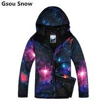 Gsou snow marca de esquí de invierno chaquetas hombres chaqueta de snowboard esquí trajes de nieve esqui hombre veste homme de esquí ropa de esquí lobo