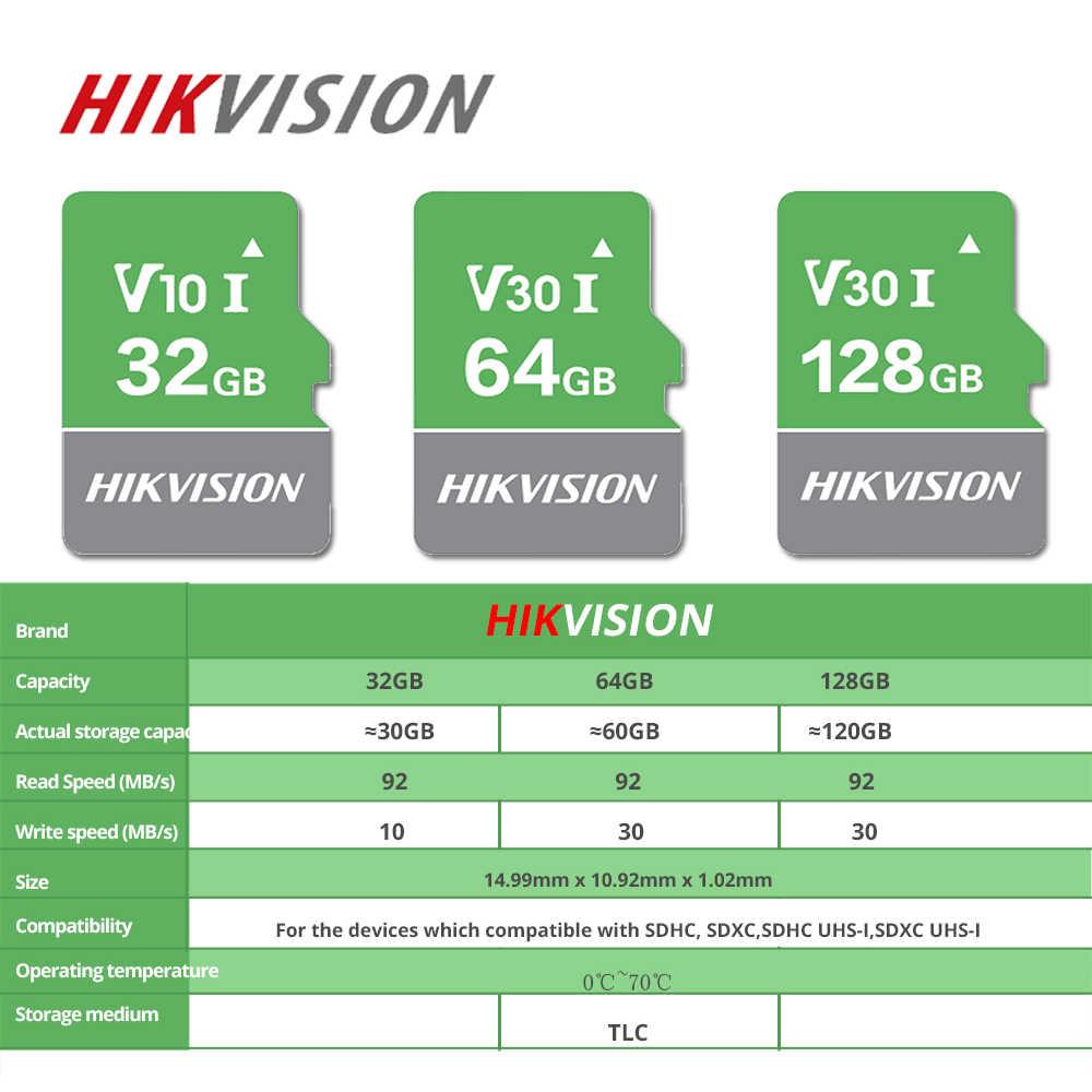 HIKVISION SD بطاقة 32 GB 64 GB 128 GB v30 الأخضر بطاقة الذاكرة cartao دي ميموريال فلاش بطاقة tarjeta البسيطة العلامة التجارية الجديدة TF بطاقة TLC كارت sd