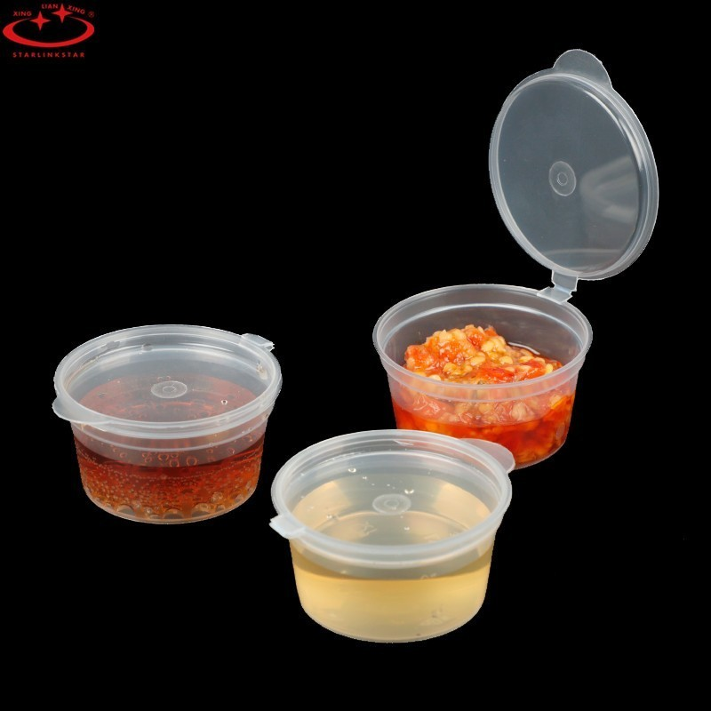 30PCS 35ML Portable Food Sauce Holder Gravy Boat Soup Storage Containers Small Jar Can With Cover Outdoor Barbecue BBQ Tools image