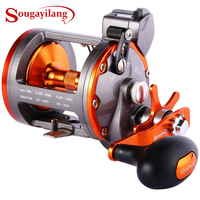 Sougayilang THUNDER LS30 Line Counter Trolling Reel Conventional Level Wind Cast Drum Fishing Reel 6+1BB with Digital Display