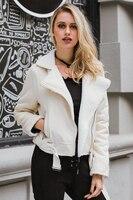 Women Double Zipper Pocket High Waist Belt Warm Woollen Inner Autumn Winter