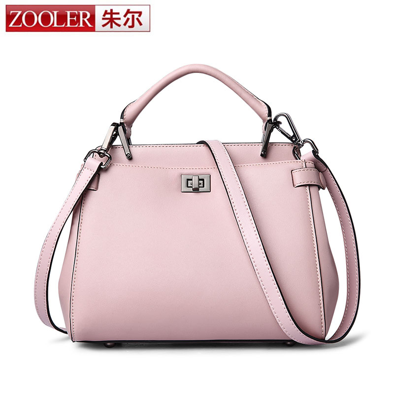 ZOOLER Luxury Women Lock Bags Handbags Solid Women Famous Brand Genuine Leather Shoulder Bags Ladies Small Bag Bolsos Mujer Sac