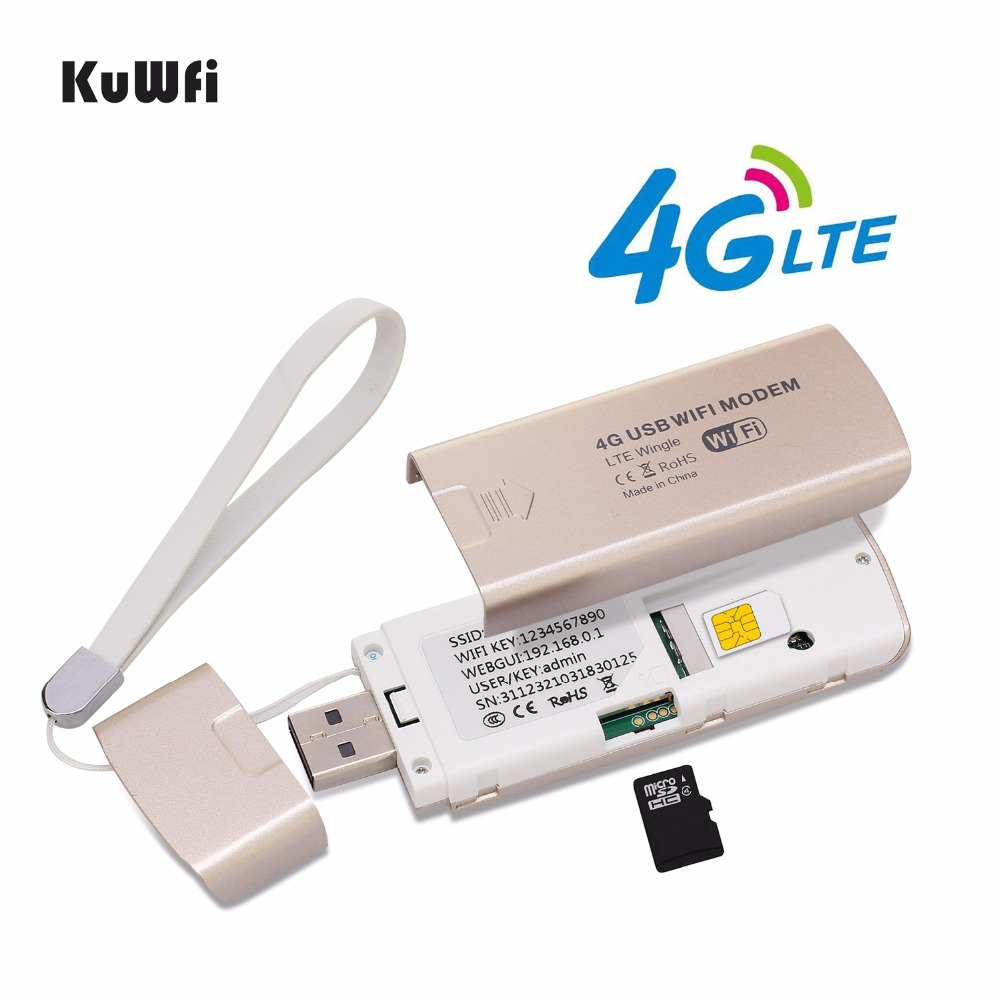 Image 3 - Unlock 4G LTE USB Modem 3G/4G Wifi Dongle 100Mbps 4G Car Wireless WIFI Router  With SIM Card Slot 4G Router For Mac OS Windows-in 3G/4G Routers from Computer & Office