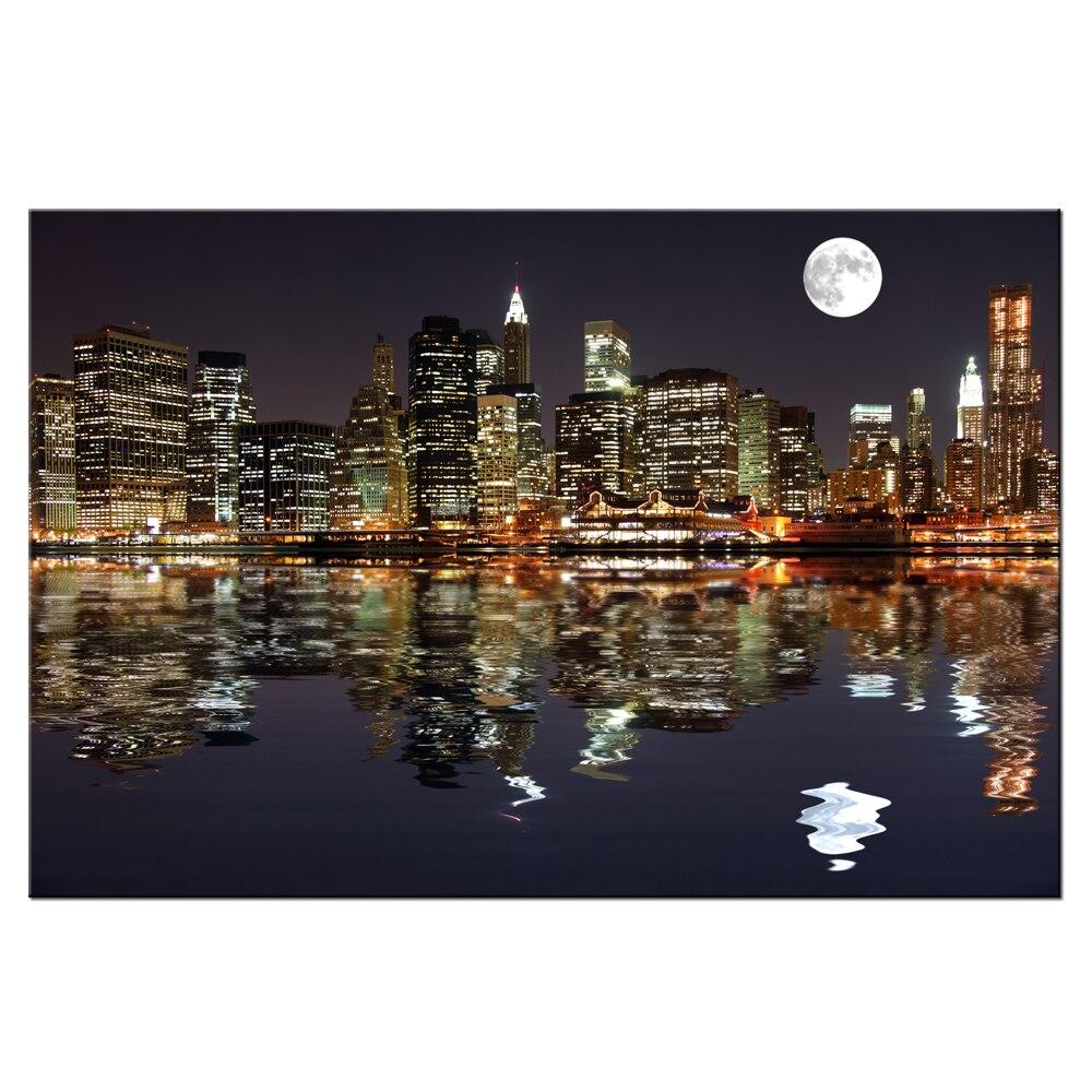 New York Night View Picture Canvas Prints Manhattan