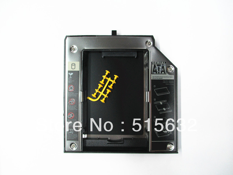 12.7mm 2nd SATA HDD SSD Hard Drive Bay Caddy For Lenovo Thinkpad T420 T430 W530 T530