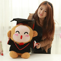 big lovely stuffed monkey toy doctor monkey doll smile monkey toy gift about 55cm 0113